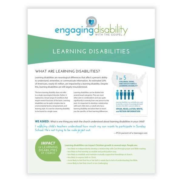 Learning Disabilities pamphlet cover