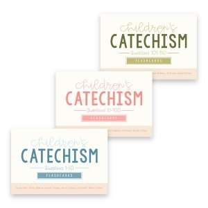 all 3 sets of Children's Catechism Flashcards covering all 150 questions
