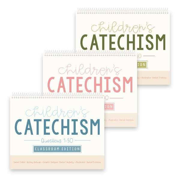 all 3 Children's Catechism classroom books covering all 150 questions
