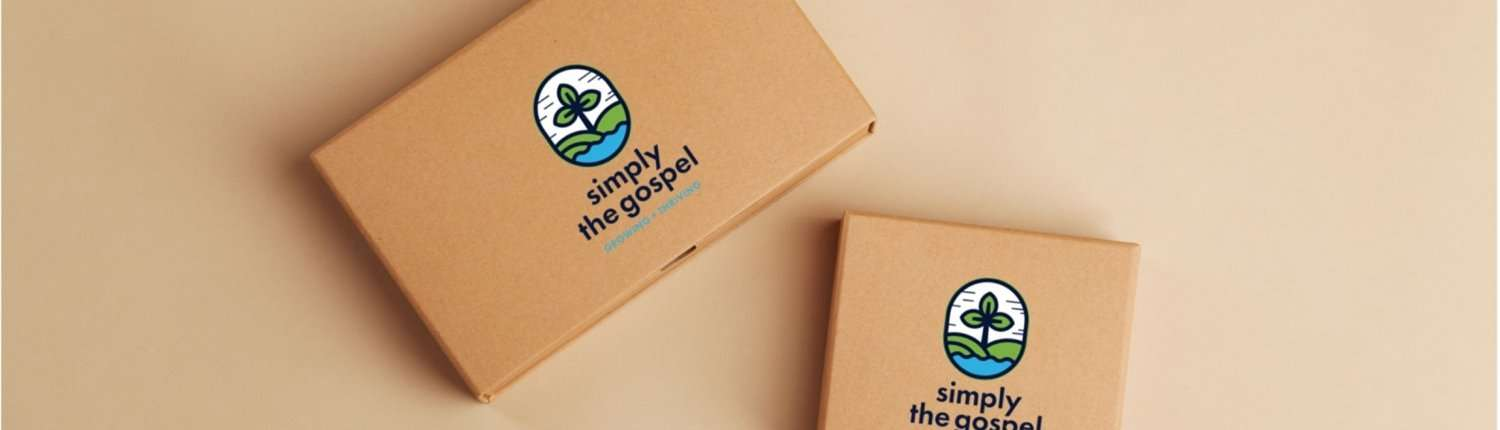 Simply the Gospel branded boxes