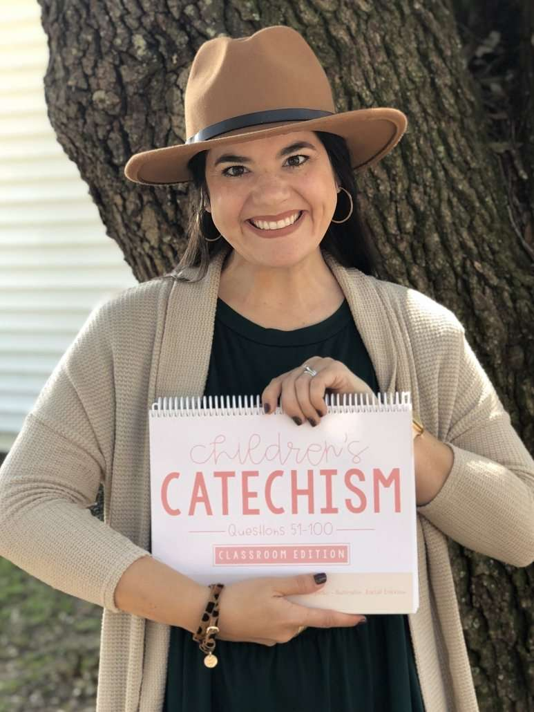 Catechism visuals graphic designer Rachel Unglesby