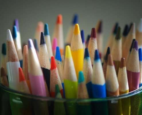 multicolored pencils representing each person is unique